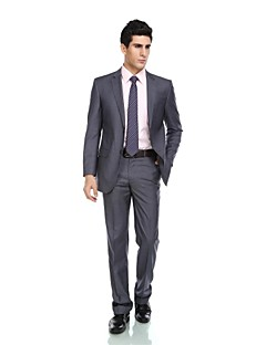 cheap Tuxedos-Tuxedos Tailored Fit Notch Single Breasted Two-buttons Wool Blend Polyester/Rayon(T/R) Viscose Solid
