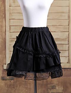 billiga Lolitaklänningar-Gotisk Lolita Lolita Spets Dam Kjolar Underkjol Cosplay Svart Kort längd