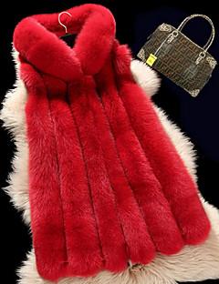 billige Pels og lær-Store størrelser سترة-Ensfarget Vintage Arbeid Dame