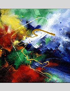 tanie Pejzaże abstrakcyjne-Hang-Malowane obraz olejny Ręcznie malowane - Krajobraz Klasyczny / Nowoczesny Brezentowy / Rozciągnięte płótno