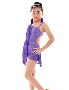 Buikdans Gympakken Kinderen Prestatie Polyester Polkadots 1 Stuk Mouwloos Natuurlijk Gympak