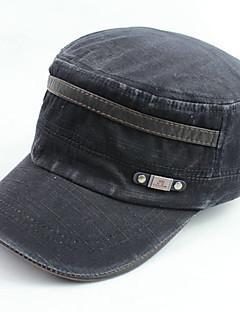 billige Trendy hatter-Unisex Fritid Baseballcaps,Alle årstider Ensfarget Polyester Svart Navyblå Grønn