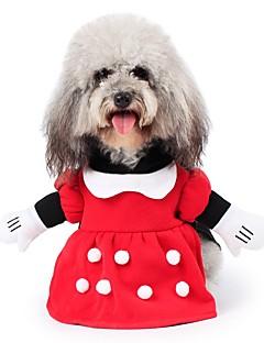 お買い得  犬用ウェア-ネコ 犬 コスチューム コート パーカー セット ジャンプスーツ 犬用ウェア キュート コスプレ 保温 ファッション ハロウィーン クリスマス キャラクター レッド コスチューム ペット用