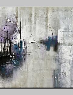 tanie Pejzaże abstrakcyjne-Hang-Malowane obraz olejny Ręcznie malowane - Streszczenie / Pejzaż abstrakcyjny Nowoczesny Brezentowy