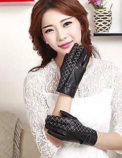 kvinners pu grid leddet lengde fingertuppene søt / fest / uformell vinter mote varme hansker