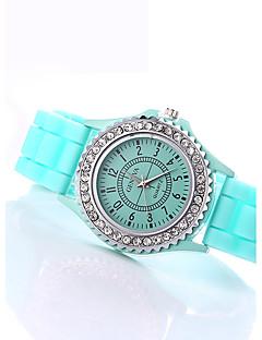 Dámské Módní hodinky / imitace Diamond Křemenný Silikon Kapela TřpytČerná Bílá Modrá Červená Orange Hnědá Zelená Růžová Fialová žlutá