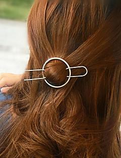 Women's Fashion Casual Geometric Circle Copper Hairpin Hair Accessories 1Set