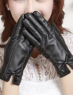 naisten pu bowknot ranteen pituus sormenpäät lisätä villa järkyttää söpö / puolue / vapaa-ajan talven muoti lämpimät käsineet