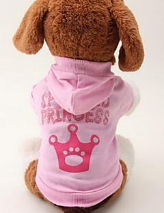 ネコ 犬 パーカー 犬用ウェア 高通気性 ファッション ティアラ、クラウン ピンク コスチューム ペット用