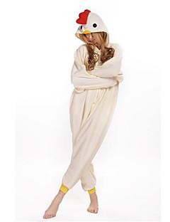 billige Kigurumi-Kigurumi-pysjamas Hane/høne Onesie-pysjamas Kostume Polar Fleece Cosplay Til Voksne Pysjamas med dyremotiv Tegnefilm Halloween Festival /