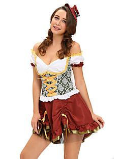 Oktoberfest karriere Kostymer Servitør/servitrise Cosplay Kostumer Party-kostyme Kvinnelig Halloween Oktoberfest Festival/høytid