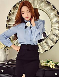 Majica Žene,Vintage / Slatko / Sofisticirano Izlasci / Ležerno/za svaki dan / Party/zabava Jednobojni-Dugih rukava Ruska kragna-Proljeće