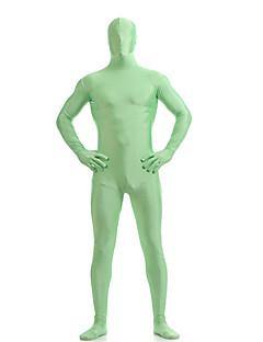 billige Zentai-Zentai Drakter Ninja Zentai Cosplay-kostymer Brun / Grønn / Mørkegrønn Ensfarget Trikot / Heldraktskostymer Zentai Elastan Unisex Jul Halloween / Høy Elastisitet