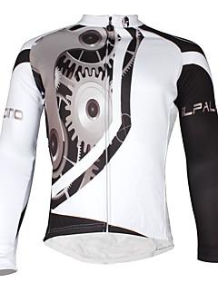 お買い得  サイクリングジャージ-ILPALADINO 男性用 長袖 サイクリングジャージー バイク ジャージー, フリースライナーつき, 高通気性, 反射性ストリップ ポリエステル