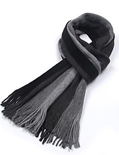 Men Knitwear Scarf,Casual RectangleStriped