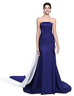 Χαμηλού Κόστους Dresses Inspired by First Daughter of America-Τρομπέτα / Γοργόνα Στράπλες Μακρύ Ταφτάς Επίσημο Βραδινό Φόρεμα με Πλισέ με TS Couture®