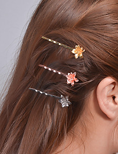 billige Trendy hårsmykker-Dame Søtt Fest Smykker Hårklemme Messing