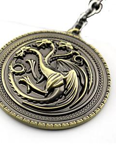 baratos -Mais Acessórios Inspirado por Game of Thrones Fantasias Anime Acessórios de Cosplay Chaveiro Dourado / Prateado Liga