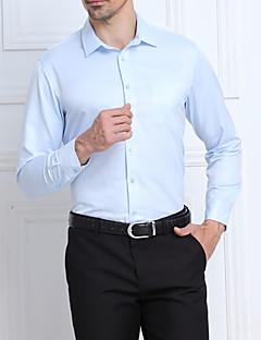 billige Herremote og klær-Bomull Store størrelser Skjorte - Ensfarget Stripet Jacquardvevnad Herre