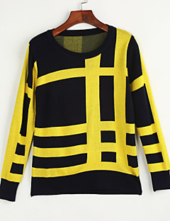 Daily Casual Street chic Regular Pullover,Print Round Neck Long Sleeves Polyester Spring Fall Medium Micro-elastic