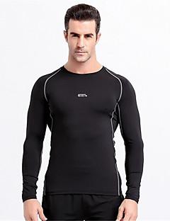 Homens Camiseta de Corrida Manga Longa Secagem Rápida Vestível Respirável Confortável Camiseta Blusas para Exercício e Atividade Física