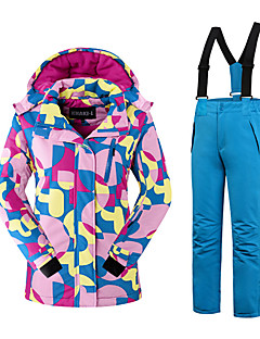 Roupa de Esqui Conjuntos de Roupas/Ternos Mulheres Roupa de Inverno Poliéster Moderno Vestuário de Inverno Térmico/Quente Confortável