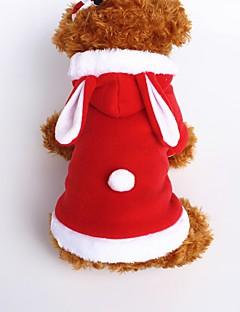 billiga Hundkläder-Hund Dräkter/Kostymer Huvtröjor Hundkläder Djur Röd Rosa Flanelltyg Cotton Kostym För husdjur Herr Dam Gulligt Cosplay