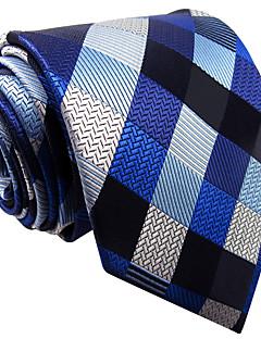 baratos Acessórios de Moda-Masculino Gravata Azul,Vintage / Fofo / Festa / Trabalho / Casual Quadriculada Raiom Todas as Estações