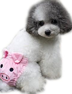 billiga Hundkläder-Katt Hund Byxor Hundkläder Tecknat Gul Kaffe Rosa Polär Ull Cotton Kostym För husdjur Herr Dam Gulligt