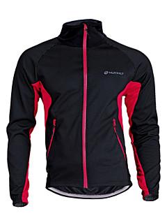Nuckily Sykkeljakke Sykkel Jersey Topper Unisex Hold Varm Vindtett Pustende Polyester Fleece Lapper Camping & Fjellvandring Fritidssport
