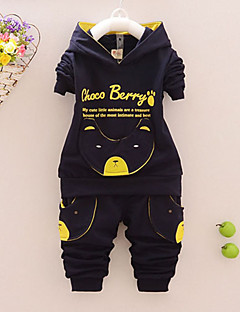 Boys' Print Clothing Set,Cotton Spring Fall Long Sleeve Cartoon Dark Blue Yellow Red