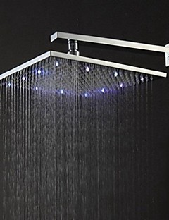 Led Shower Heads Contemporary Rain Brushed Feature Rainfall Head