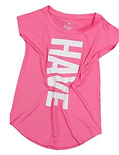 halpa -Naisten Juoksupaita Lyhythihainen Hengittävä Mukava Hikeä siirtävä T-paita Topit varten Jooga Retkeily ja vaellus Kuntoilu Juoksu
