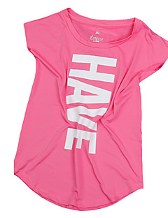 abordables -Femme Tee-shirt de Course Manches Courtes Respirable Anti-transpiration Confortable Tee-shirt Hauts/Top pour Yoga Camping / Randonnée