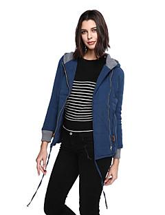 お買い得  レディースダウン&パーカー-女性用 ストリートファッション パッド入り ソリッド