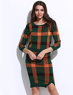 お買い得  レディースツーピースセット-女性用 ブラウス セット チェック スカート