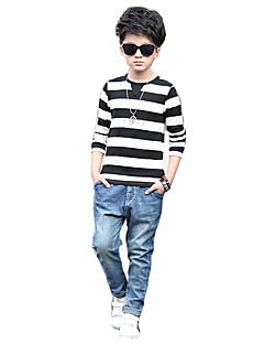 男の子 カジュアル/普段着 ストライプ コットン レーヨン Tシャツ 春 長袖