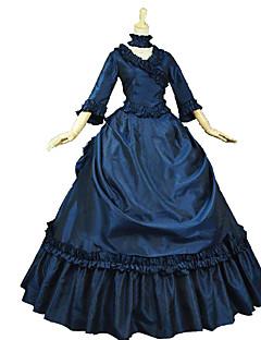 billiga Lolitaklänningar-Gotisk Lolita Klassisk / Traditionell Lolita Rokoko Elegant Victoriansk Spets Dam Klänningar Cosplay Blommig Poet Långärmad Lång längd Halloweenkostymer