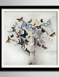 Framed Canvas Set Animals Fl Botanical Wall Art Pvc Material With Frame Home Decoration Living Room Bedroom Kitchen