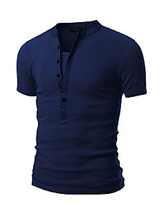 billige Herremote og klær-Bomull Rund hals T-skjorte - Ensfarget Sport Herre