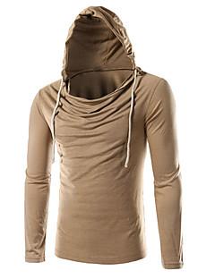 お買い得  メンズTシャツ&タンクトップ-男性用 スポーツ Tシャツ フード付き ソリッド コットン