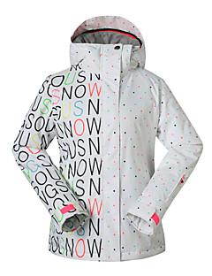 billiga Skid- och snowboardkläder-GSOU SNOW Dam Skidjacka Vattentät, Håller värmen, Snabb tork Skidåkning / Skridskoåkning / Snowboardåkning Polyester Varma överdelar /