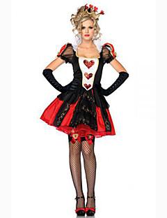 tanie Kostiumy filmowe i telewizyjne-Czarownica Królowa Cosplay Kostiumy Cosplay Kostium imprezowy Bal maskowy Kostiumy z filmów Czarny Sukienka Czapki Halloween Karnawał Poliester