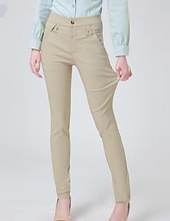 billige Plus Størrelser-Dame-Dame Plusstørrelser Skinny Jeans Bukser Ensfarvet