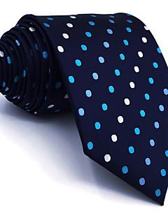 billige Redaksjonens valg-menns vintage søte fest arbeid casual rayon slips polka dot farge blokk jacquard, grunnleggende