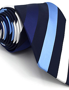 billige Redaksjonens valg-Herre Vintage Søtt Fest Kontor Fritid Slips,Alle årstider Geometrisk Rayon Blå