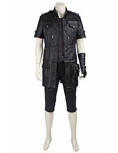 cheap Videogame Cosplay-Inspired by Final Fantasy Noctis Lucis Caelum Video Game Cosplay Costumes Cosplay Suits Cosplay Tops/Bottoms Solid Coat Top Gloves Belt