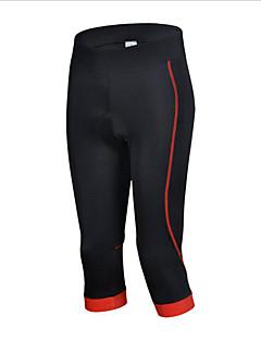 cheji® 3/4 sykkeltights Sykkel Fôrede shorts Bunner Dame Fort Tørring Pustende Komprimering Bekvem Polyester Elastan Klassisk Trening &