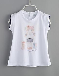 T-Shirt Lässig/Alltäglich Druck Baumwolle Sommer Kurzarm