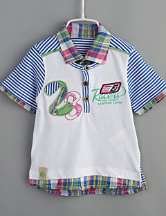 Baby Casual/Daily Striped Color Block Tee-Cotton-Summer-